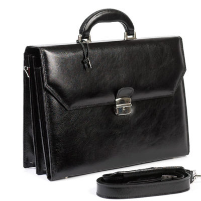 CC-170-ITALIANO-BRIEFCASE-BLACK-WITH-STRAP