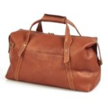Claire Chase Leather Luggage La Grange 510 Brown Duffle Bag Travel Carry-on Weekend Back View